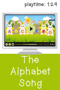 Alphabet Song Video and Flash Cards - Cute Bunnies
