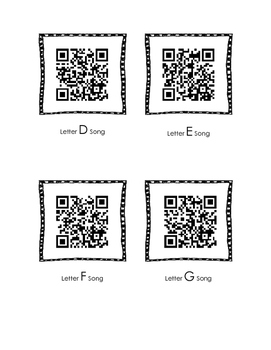 Alphabet Songs QR Codes - Complete Set