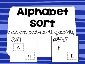 Alphabet Sort - A Cut and Paste Activity Packet