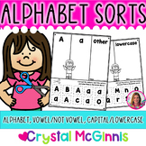 Alphabet Sort Letter Recognition Activities-30 Printables (RTI, Literacy Center)