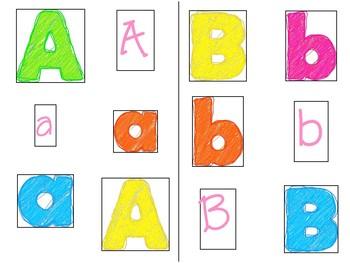 Alphabet Sort Sensory Bin