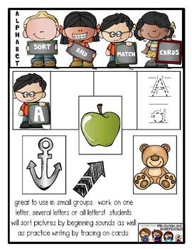 Alphabet Sort and Match Cards - Center