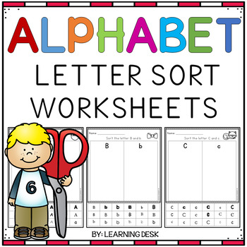 Alphabet Worksheets (Letter Recognition Activity)