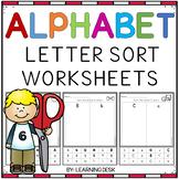 Alphabet Worksheets A-Z Kindergarten - Letter Recognition (Cut and Paste)