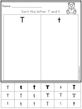alphabet worksheets a z kindergarten letter recognition. Black Bedroom Furniture Sets. Home Design Ideas