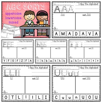 Alphabet Sorting - 3 in 1 Bundle