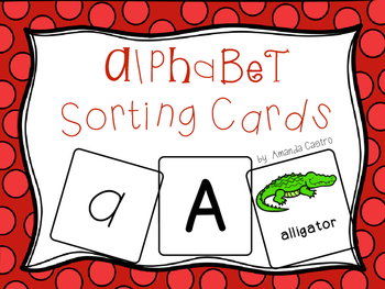 Alphabet Sorting Cards - A Letter Station