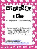 Alphabet Sorting Centers & Homework