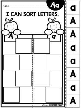 Alphabet Sorting {English plus Free Spanish version}
