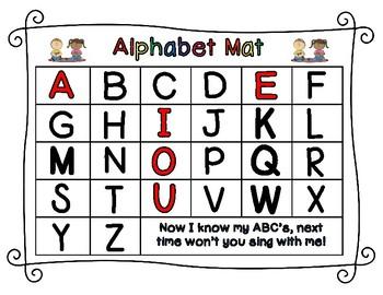 Alphabet Sorting Mat