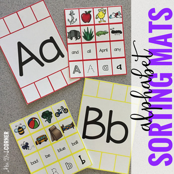 Alphabet Sorting Mats { 26 mats - 386 pieces } for Student