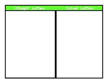 Alphabet Sorting Mats- Small Group Set