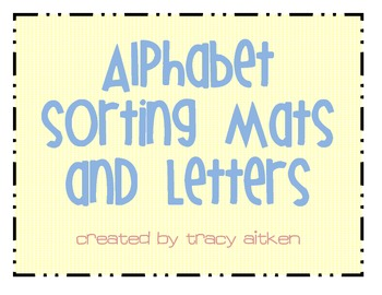 alphabet sorting mats sorting different letter fonts