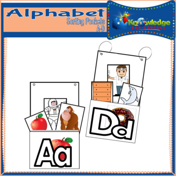 Alphabet Sorting Pockets Letters A to D