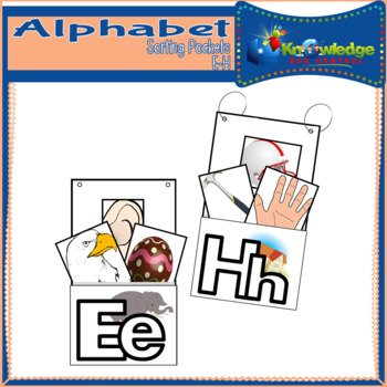Alphabet Sorting Pockets Letters E to H