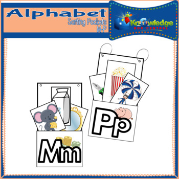 Alphabet Sorting Pockets Letters M to P