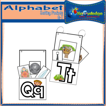 Alphabet Sorting Pockets Letters Q to T