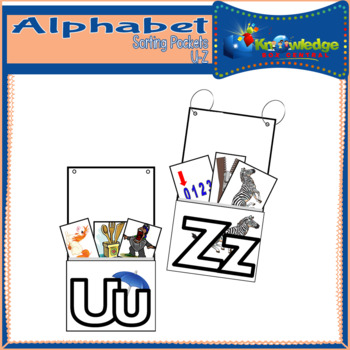 Alphabet Sorting Pockets Letters U to Z