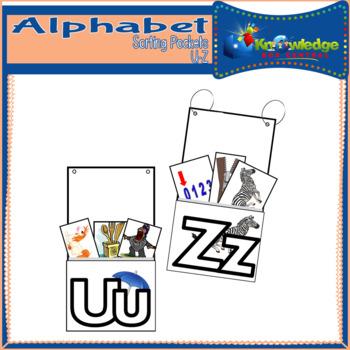 Alphabet Sorting Pockets Letters U to Z
