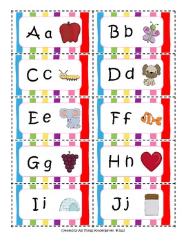 Alphabet Sorting Tub Labels