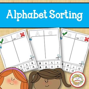 Alphabet Sorting Worksheets - 4 Sets