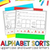 Alphabet Letter Sorts- NO PREP
