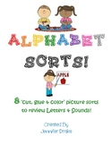 Alphabet Sorts ~8 Picture Sorts to Review Letter & Sounds~ Great Center Idea!