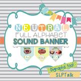 Speech Sound Banner - Neutral Room Decor