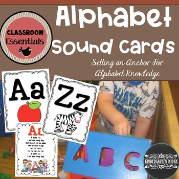 Alphabet Sound Cards with Two Font Choices