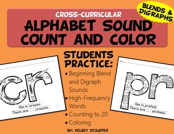 Alphabet Sound - Count and Color [Blends and Digraphs]