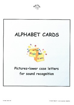 Alphabet Sound Display Cards/lower case+picture