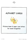 Alphabet Sound Display Cards/lower case+upper case+picture