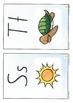Alphabet Sound Display Cards/lower case+upper case+picture