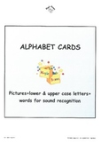 Alphabet Sound Display Cards/lower case+upper case+picture+word