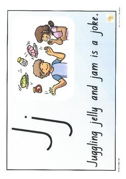Alphabet Sound Display Cards/lower case+upper case+sentence+picture