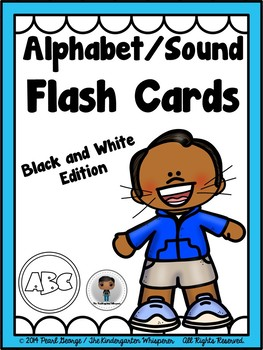 Phonics - Alphabet/Sound Flash Cards (Black and White Edition)
