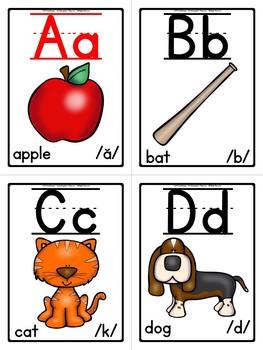 Phonics - Alphabet/Sound Flash Cards (Color Edition)