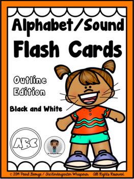 Phonics - Alphabet/Sound Flash Cards (Outline Edition)