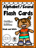 Phonics - Alphabet/Sound Flash Cards (Outline Edition)