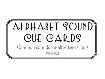 Alphabet Sound Picture Cards - *Including Long Vowels*