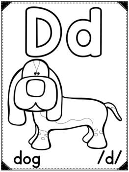 Alphabet / Sound Posters (Outline Edition)