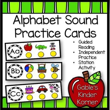 Alphabet Sound Practice Cards