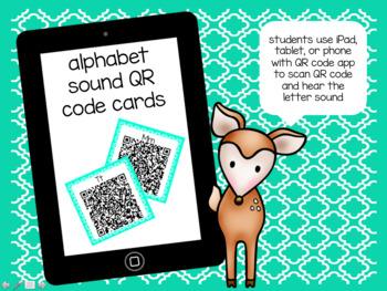 Alphabet Sound QR Code Cards FREE