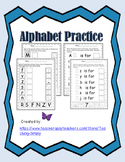 Alphabet Letters and Sounds; Phonemic Awareness; RTI; Begi