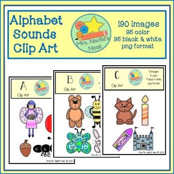 Alphabet Beginning Sounds Clip Art Bundle