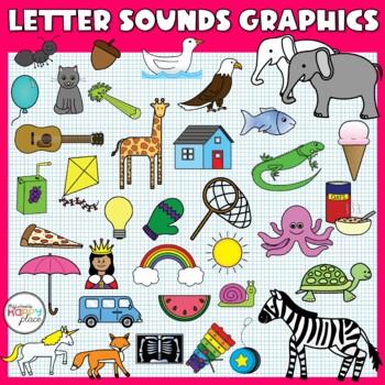 Alphabet Sounds Clip Art: Phonics Graphics for Commercial