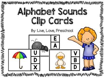 Alphabet Sounds Clip Cards