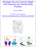 Alphabet Sounds Practice Pages with Pictures and Handwriti