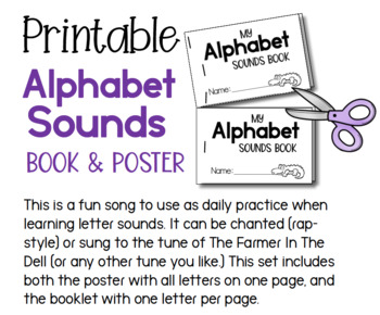 Alphabet Sounds Song Booklet and Poster Set (from Phonics Bundle 4)
