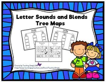 Alphabet Letter Sounds Tree Maps - Phonemic Awareness - Phonics
